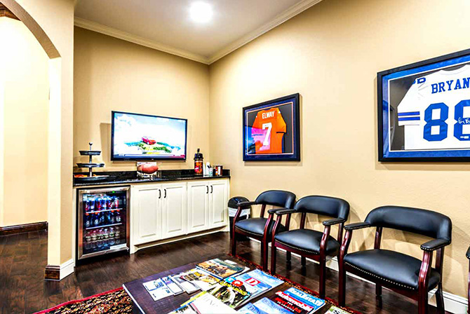 A view of the Man Cave waiting area at one of our Low T Center clinics